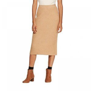 NWT A New Day Rib Knit Sweater Skirt XS Camel